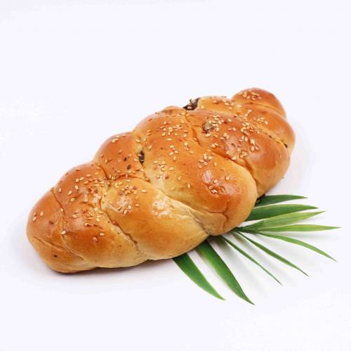 Braided Raisin Bun